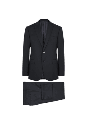 Emporio Armani Navy Slim-fit Wool Suit