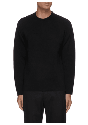 Double face wool blend sweater