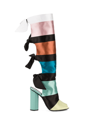 Marco De Vincenzo colour block ribbon boots - Multicolour