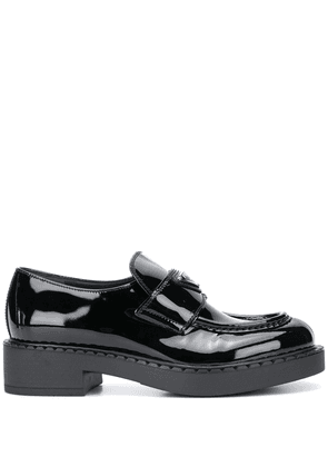 Prada logo plaque chunky sole loafers - Black