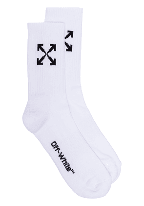 Off-White arrow graphic sports socks