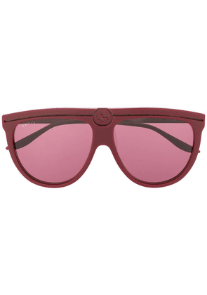 Gucci round-frame sunglasses - Red