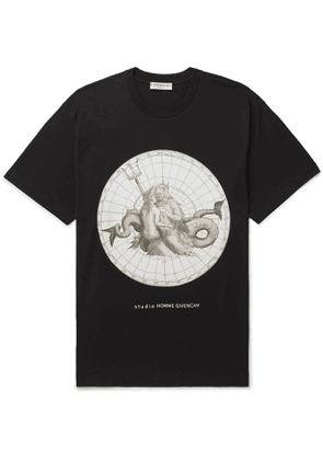 Givenchy - Oversized Printed Cotton-Jersey T-Shirt - Men - Black