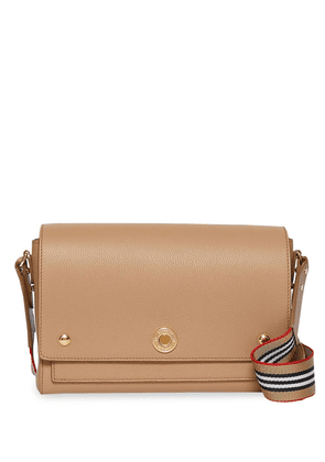 Burberry Grainy Leather Note Crossbody Bag - Neutrals