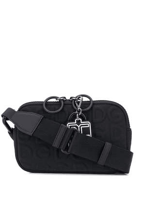 Dolce & Gabbana raised logo crossbody bag - Black