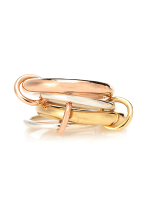 Cici Rose 18kt gold and sterling silver linked rings