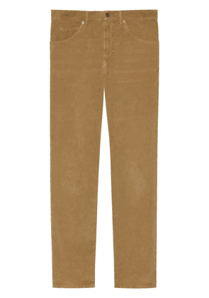 Gucci washed velvet corduroy trousers - Brown