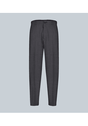 Cropped virgin wool pants