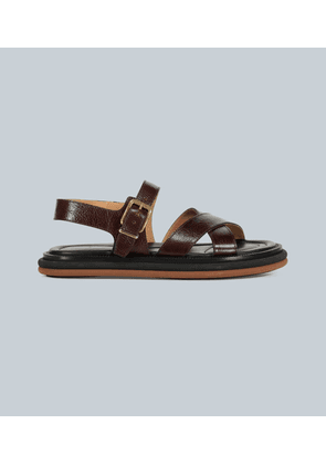 Leather-strap sandals