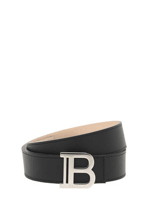 3.5cm Monogram Leather Belt