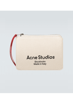 Malachite canvas logo pouch