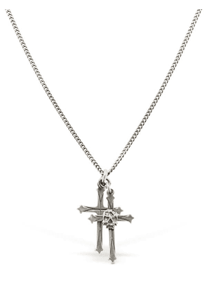 Double Cross & Skull Necklace