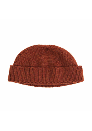 40 Colori - Rust Solid Wool Fisherman Beanie