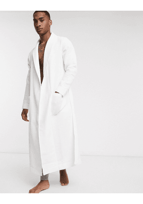 ASOS DESIGN lounge dressing gown in white waffle