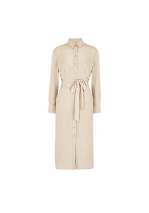 Equipment Jarvisse Stone Silk Shirt Dress