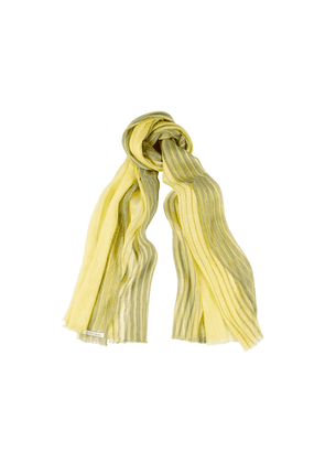 Denis Colomb Toosh Striped Cashmere And Linen-blend Scarf