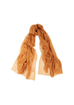 Denis Colomb Feather Toosh Rust Fine-knit Cashmere Scarf