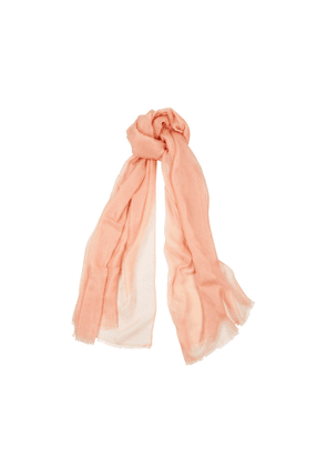 Denis Colomb Feather Toosh Pink Fine-knit Cashmere Scarf