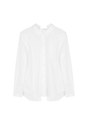 Equipment Charlize White Open-back Cotton Shirt