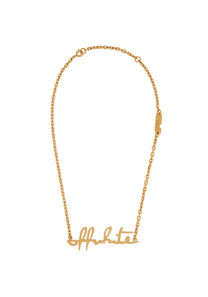 Off-White Gold-tone Logo Necklace