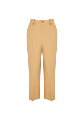 Forte forte Pale Peach Straight-leg Trousers