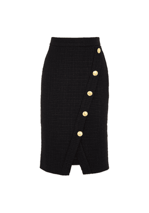 Boutique Moschino Black Tweed Pencil Skirt