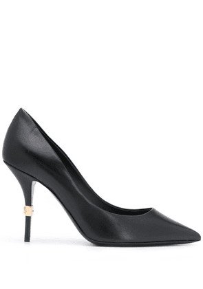 Dolce & Gabbana logo plaque stiletto pumps - Black