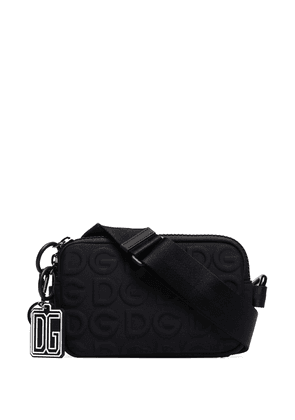 Dolce & Gabbana embossed logo camera bag - Black