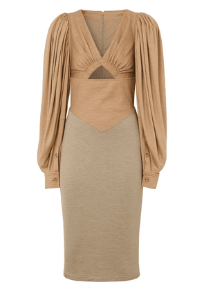 Burberry panelled fitted dress - Neutrals