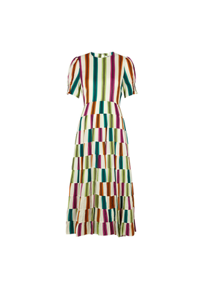 Diane Von Furstenberg Zadie Striped Midi Dress
