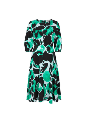 Diane Von Furstenberg Bliss Printed Silk Crepe De Chine Midi Dress