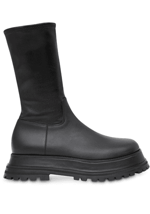 Burberry zip-up calf-length boots - Black