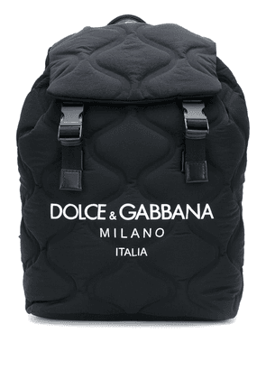 Dolce & Gabbana wave-quilted backpack - Black