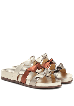 Lolita Pool metallic leather sandals