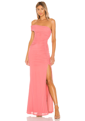 MAJORELLE Patterson Maxi Dress in Pink. Size S,XL,XS,XXS.