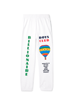 Billionaire Boys Club - Tapered Printed Loopback Cotton-Jersey Sweatpants - Men - White