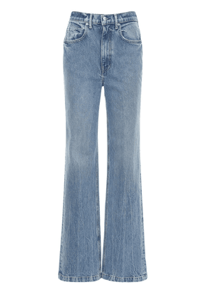 High Waist Wide Leg Cotton Denim Jeans