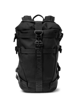 Moncler - Argens Webbing and Suede-Trimmed Ripstop Backpack - Men - Black