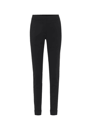 High-rise stretch-wool pants