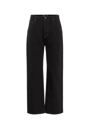 Low-rise wide-leg cropped jeans