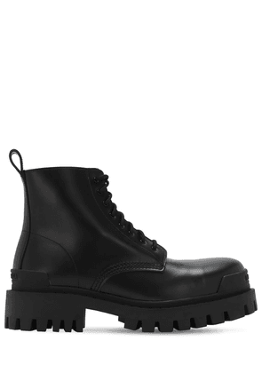 Strike Bootie Leather Lace-up Boots