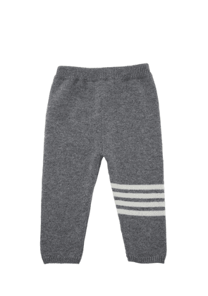 Cashmere Sweatpants W/ Intarsia Stripes