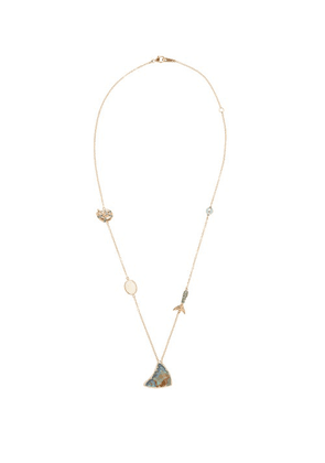 Bibi Van Der Velden - Opal, Sapphire, Pearl & 18kt Rose-gold Necklace - Womens - Rose Gold