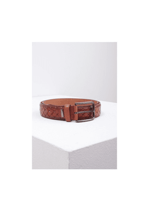 Eagle Agencies Cross Pattern Belt Colour: Tan