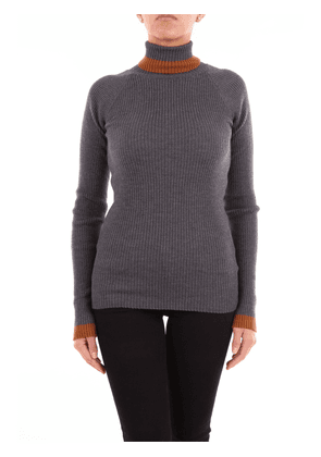 Knitted braguette with dark gray high collar