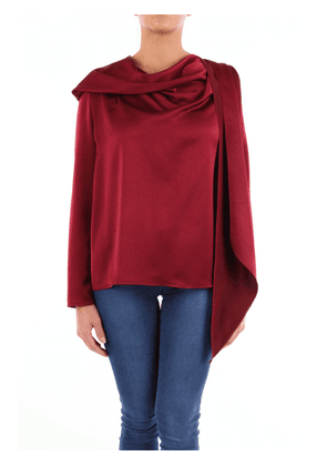 Gianluca Capannola top with long sleeves in burgundy color