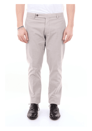 Berwich solid color trousers with america pocket