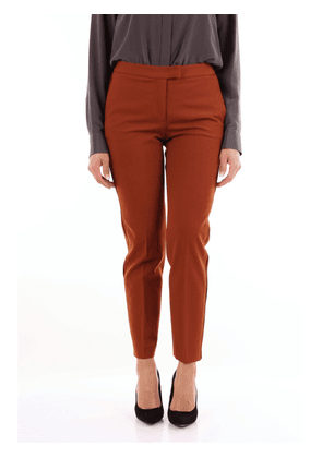 Brag-Wette caramel-colored chino trousers