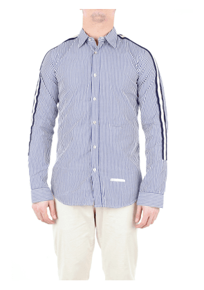 DNL Shirts Casual Men White and blue