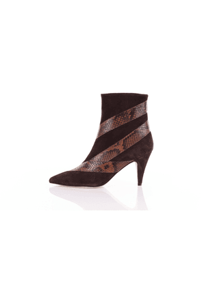 Gia Couture Leather ankle boots
